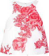 Monique Lhuillier cropped floral tank - women - Silk - 8