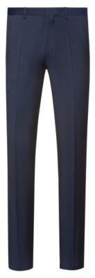HUGO Extra-slim-fit trousers in virgin-wool twill