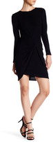 ABS by Allen Schwartz Draped Knit Dress
