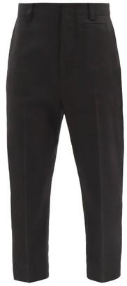 Jacquemus Gardian Cropped Tailored Trousers - Black