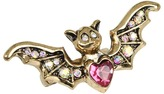 Betsey Johnson Creepy Critter Bat Wings Stretch Ring (Gold) - Jewelry