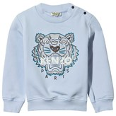 Kenzo Pale Blue Embroidered Tiger Sweatshirt