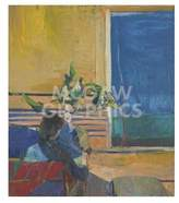 "McGaw Graphics Girl with Plant, 1960 by Richard Diebenkorn, Art Print Poster 11"" x 14"""