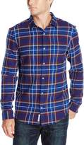 Original Penguin Men's Long Sleeve Brushed Cotton Woven