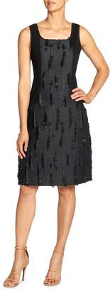 Santorelli Chiyo Contrast Side Panel Dress