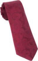 The Tie Bar Burgundy Twill Paisley Tie