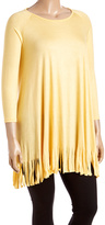 Canari Yellow Fringe Tunic - Plus
