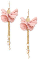 INC International Concepts M. Haskell for Gold-Tone Imitation Pearl Flower Drop Earrings, Only at Macy's
