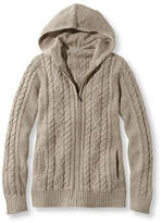 L.L. Bean Double L Mixed-Cable Sweater, Zip-Front Hoodie Marled