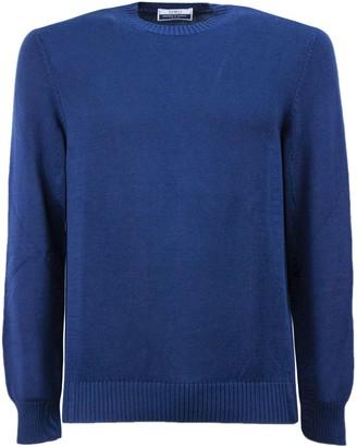 Fedeli Blue Cotton Sweater