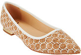 C. Wonder As Is Printed Cork Flats with Heel Hardware - Lilly