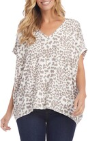 Karen Kane Leopard Print Short Sleeve Top