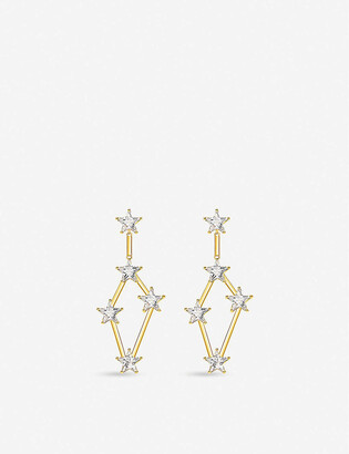 Thomas Sabo 18ct Gold-Plated And Zirconia Earrings