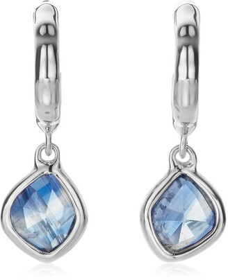 Monica Vinader Siren Mini Nugget Hoop Kyanite earrings