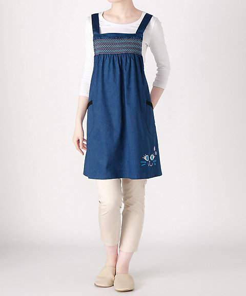 Anna Sui (アナ スイ) - [ANNA SUI] スモッキング×猫刺繍 クロス(62238)