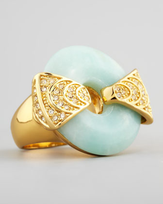 Rachel Zoe Amazonite & Crystal Statement Ring