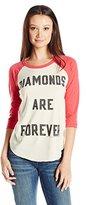 Junk Food Clothing Women's Vintage Diamonds are Forever Oversized Boyfriend Tee