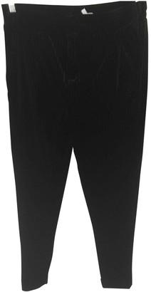 Bel Air Black Velvet Trousers for Women