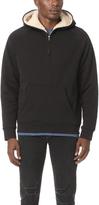 Vince Sherpa Half Zip Pullover Hoodie