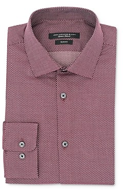 John Varvatos Micro Dot Slim Fit Dress Shirt