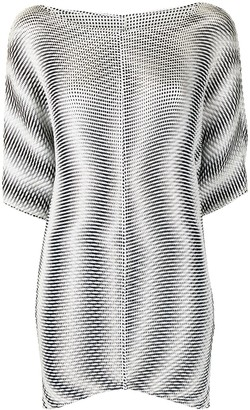 Issey Miyake Pre-Owned Zig-Zag Pattern Blouse