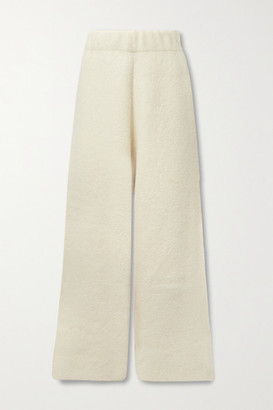 LAUREN MANOOGIAN Knitted Wide-leg Pants - Off-white