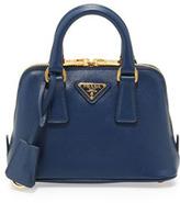 Prada Saffiano Mini Promenade Crossbody Bag, Blue (Bluette)