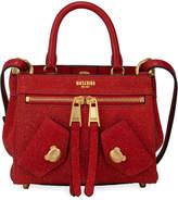 Moschino Glittered Leather Small Crossbody Bag