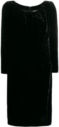 Yves Saint Laurent Pre Owned 1990s Gathered Detail Velvet Dress