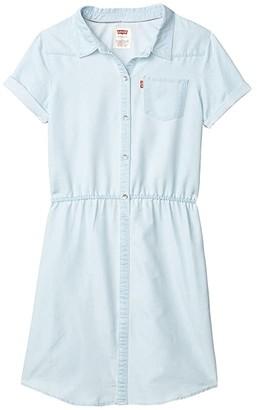 Levi's Kids Short Sleeve Western Dress (Big Kids) (Mellow Breeze) Girl's Clothing