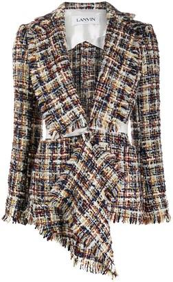 Lanvin Asymmetric Tweed Jacket