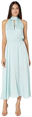 Milly Stretch Silk Ari Dress (Sea Green) Women's Dress