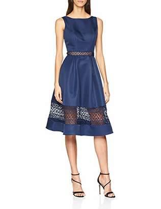 Chi Chi London Women's Chi Delia Dress, Blue Navy, (Size:UK )