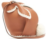 Loewe Bunny Leather Cross-body Bag - Womens - Tan Multi