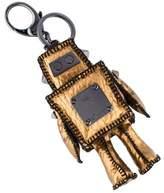 MCM Metallic Leather Robot Bag Charm