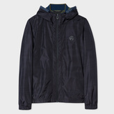 Paul Smith Men's Black Showerproof PS Logo Hooded Jacket