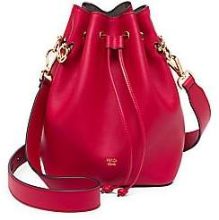 Fendi Women's Mon Tresor Leather Bucket Bag