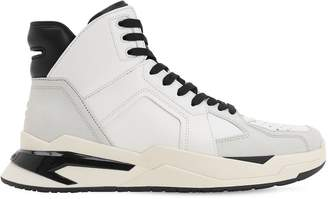 Balmain HIGH TOP LEATHER BASKETBALL SNEAKERS