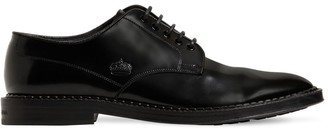 Dolce & Gabbana Marsala Leather Lace-Up Shoes