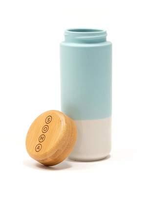 Soma Insulated Ceramic Mug with Bamboo Lid 12-ounce