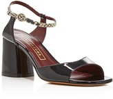 Marc Jacobs Amelia Embossed Ankle Strap Patent Leather Sandals