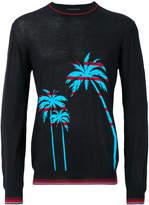 Ermanno Scervino palm intarsia sweater