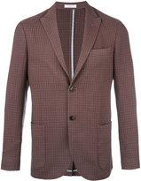 Boglioli pointed lapel plaid blazer