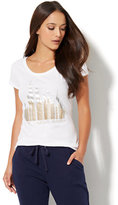 New York & Co. Lounge - Sparkling Skyline Graphic Logo Tee