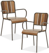 Renu Set of 2 Dining Arm Chairs, Quick Ship