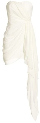 Cinq à Sept Yuki Draped Strapless Mini Dress