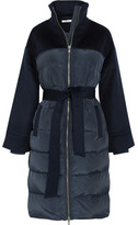 GANNI Fountain Quilted Shell And Wool-felt Coat