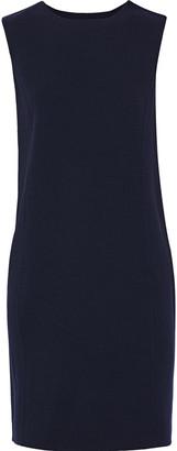 Oscar de la Renta Printed Twill-trimmed Wool-blend Crepe Mini Dress