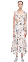 Rebecca Taylor Sleeveless Meadow Floral Ruffle Dress