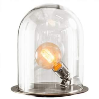 Luma Clear Small Silver Base Dome Light - Glass